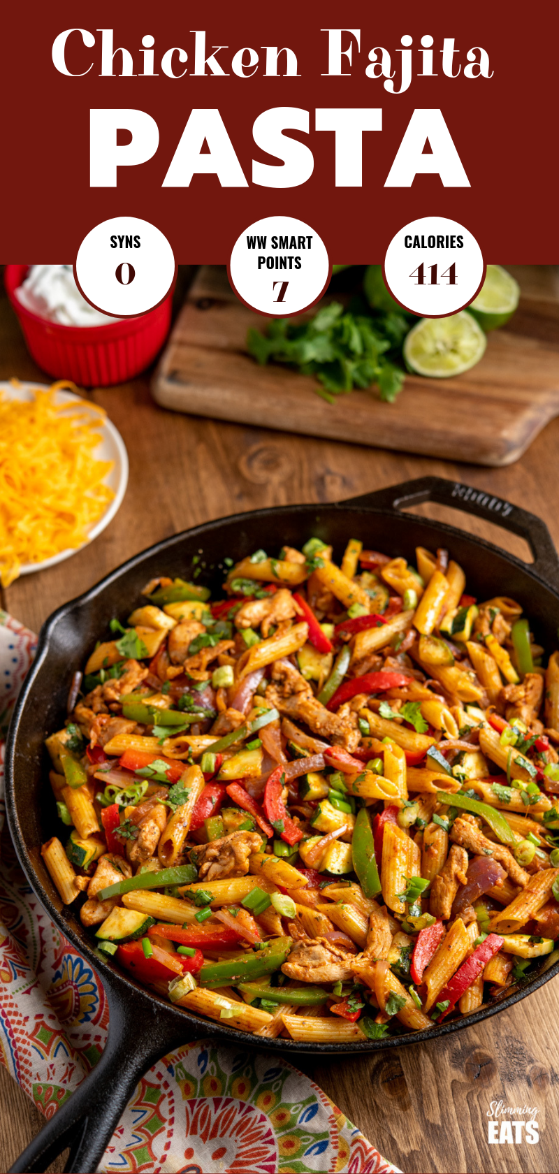 Fajita Chicken Pasta pin image