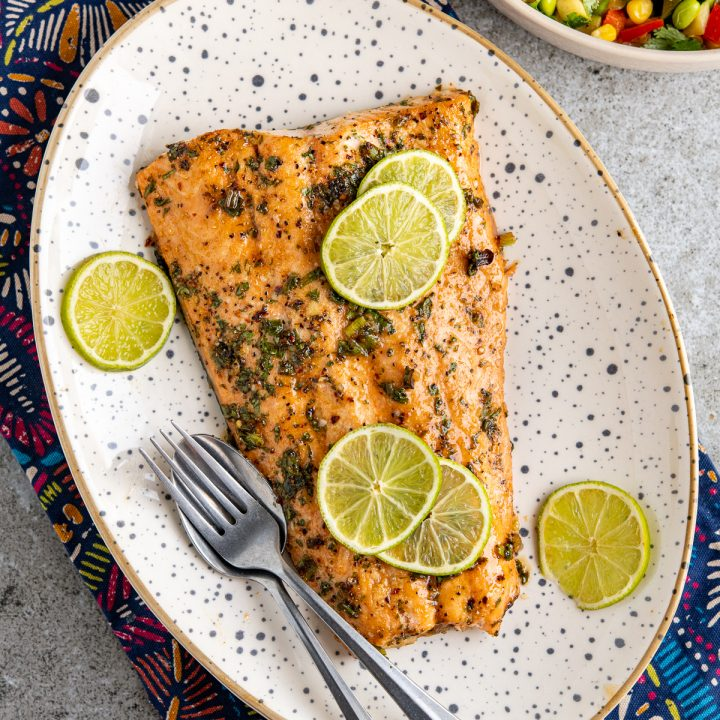 Honey Lime and Chilli Salmon