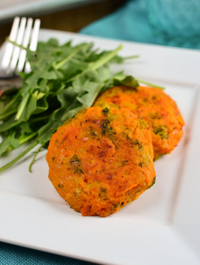 Sweet Potato, Broccoli and Cheddar Patties