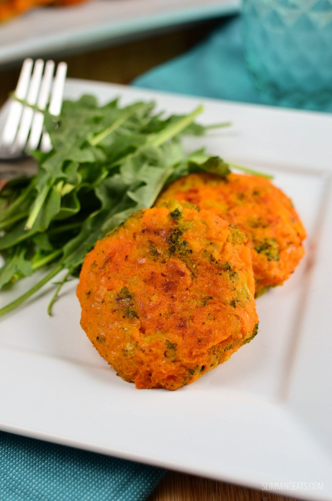 Slimming Eats Sweet Potato, Broccoli and Cheddar Patties - gluten free, vegetarian, Slimming World and Weight Watchers friendly