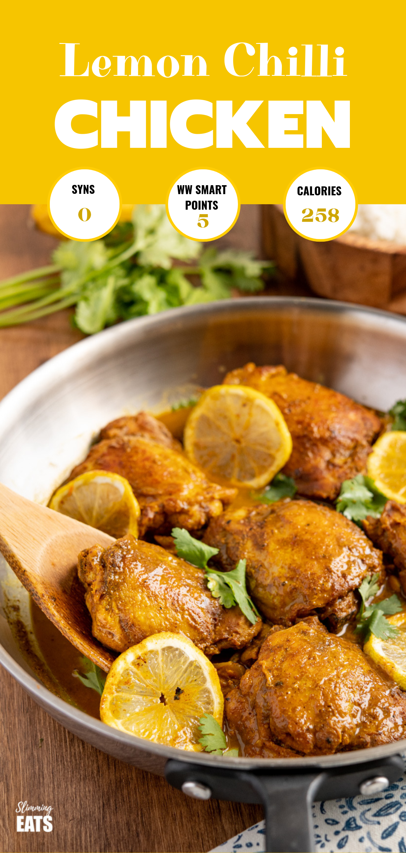 lemon chilli chicken featured pin image