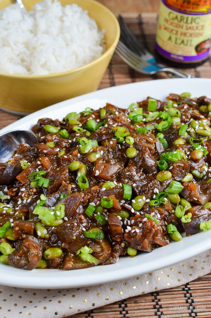 Slimming Eats 1 Syn Hoisin Eggplant and Edamame - gluten free, dairy free, vegetarian, Slimming World and Weight Watchers friendly
