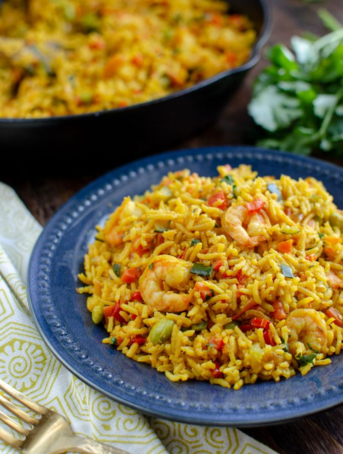 Syn Free Prawn and Vegetable Pilaf