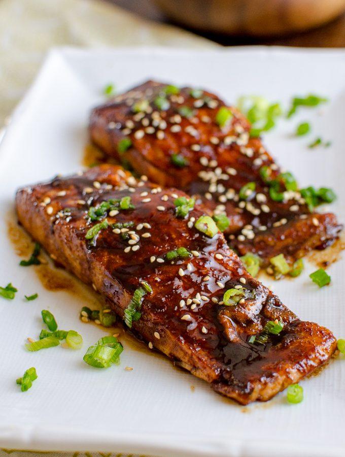 Honey Teriyaki Salmon with Noodles | Slimming World