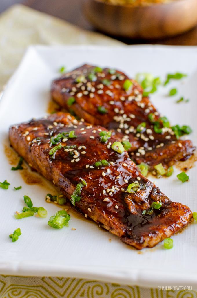 Honey Teriyaki Salmon With Noodles Slimming World