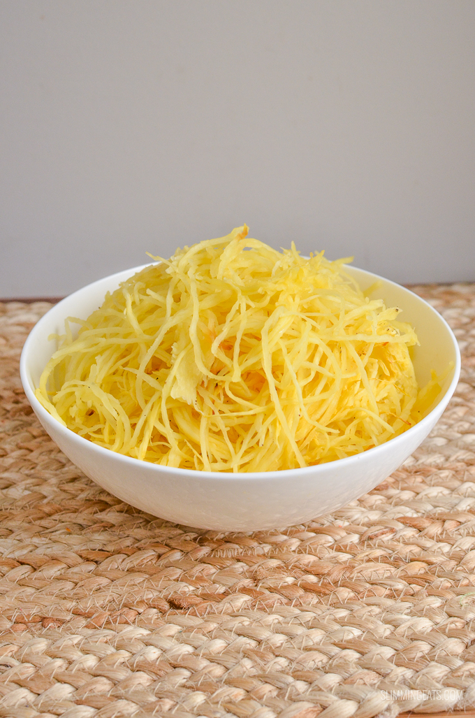 Slimming Eats Spaghetti Squash - gluten free, dairy free, vegetarian, Slimming World and Weight Watchers friendly