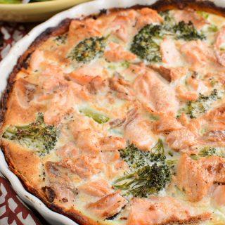 Salmon and Broccoli Quiche