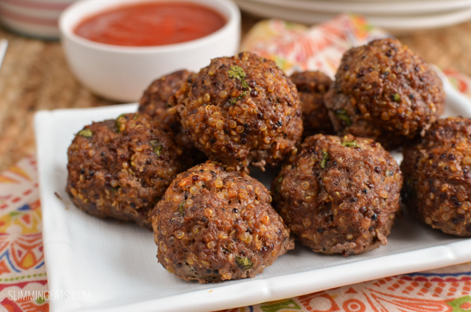 Slimming Eats Syn Free Beef Quinoa Bites - gluten free, dairy free, Slimming World and Weight Watchers friendly