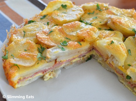 Slimming Eats Bacon and Cheese Tortilla Espanola - gluten free, vegetarian, Slimming World and Weight Watchers friendly
