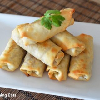 Chicken and Vegetable Baked Spring Rolls
