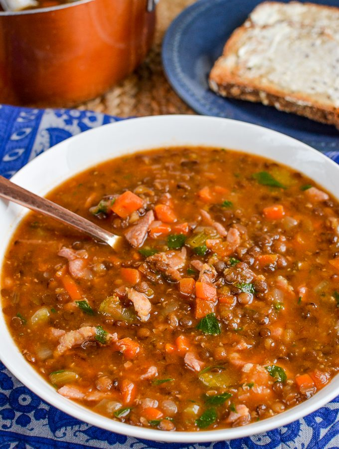 Syn Free Bacon and Lentil Soup | Slimming World