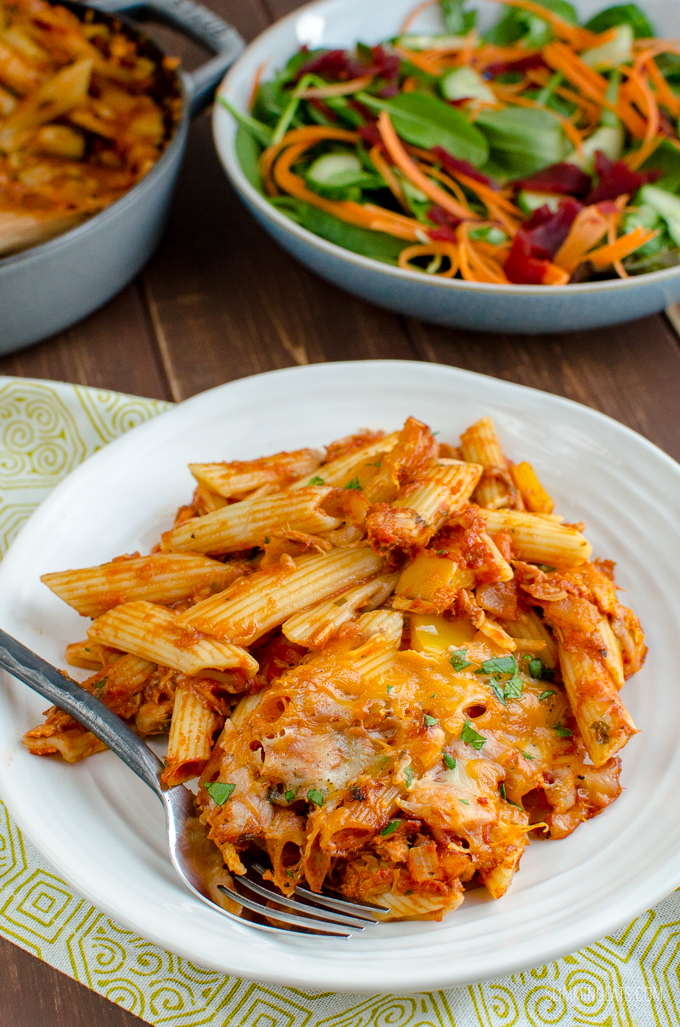 Delicious Syn Free Tuna Pasta Bake - a perfect meal any day of the week for the whole family, using simple easy ingredients. Slimming World and Weight Watchers friendly