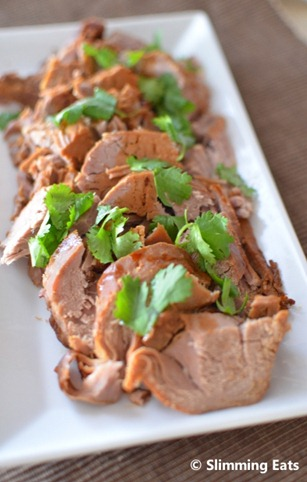 Slow Cooked Teriyaki Pork Tenderloin | Slimming Eats ...