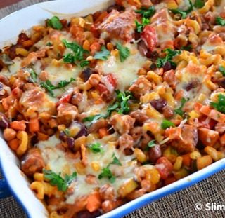 Sausage and Bean Pasta Bake