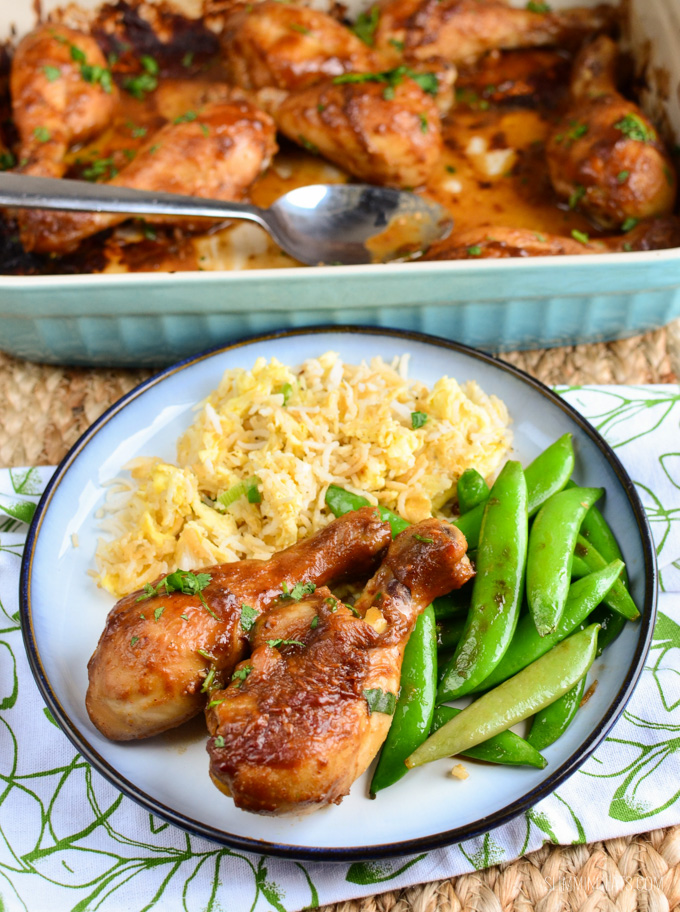 Slimming Eats Chicken Drumsticks in a Peanut Sauce - gluten free, dairy free, paleo, Whole30, Slimming World (SP) and Weight Watchers friendly