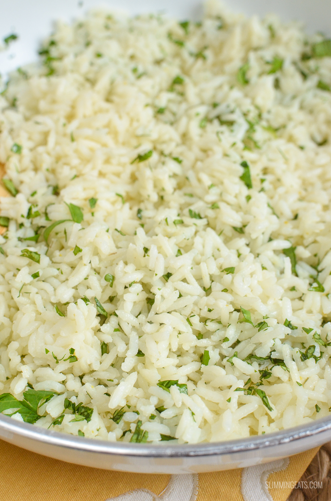Slimming Eats Lime and Coriander Rice - gluten free, dairy free, vegetarian, Slimming World and Weight Watchers friendly