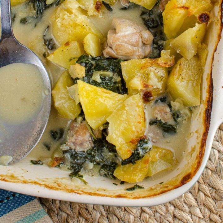 Creamy Chicken and Spinach Pie
