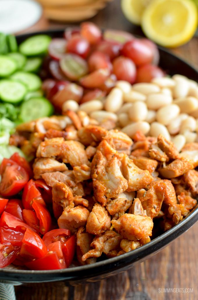 Slimming Eats Tuscan Chicken Salad - gluten free, Slimming World and Weight Watchers friendly   www.slimmingeats.com