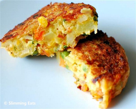 Vegetable and Cheddar Patties | Slimming Eats - Slimming ...