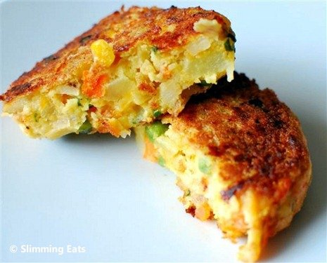 Slimming Eats Vegetable and Cheddar Patties - vegetarian, Slimming World and Weight Watchers friendly