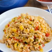 Chicken, Red Pepper and Sweetcorn Risotto