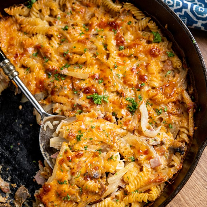 Bacon, Fennel and Mushroom Pasta Bake