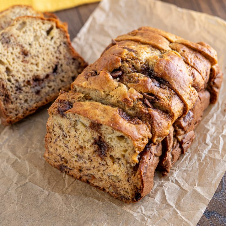 Low Syn Banana Chocolate Chip Loaf