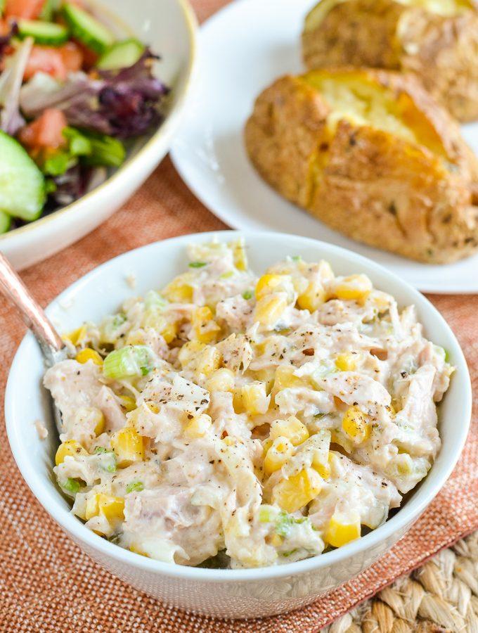 Tuna and Sweetcorn Mayo Salad
