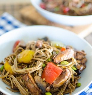 Asian Chicken with Buckwheat Noodles