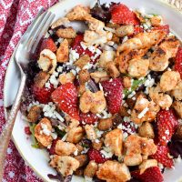 Chicken, Feta and Strawberry Salad