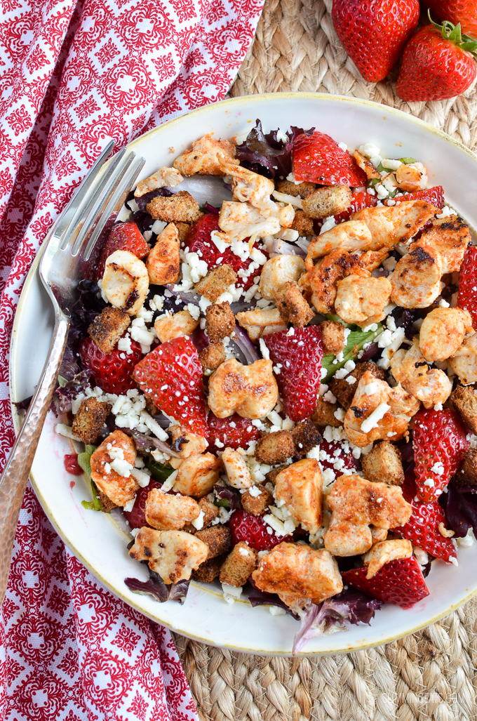 Slimming Eats Chicken, Feta and Strawberry Salad - Slimming World and Weight Watchers friendly