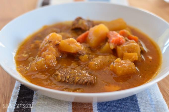 Slimming Eats Slow Cooker Irish Beef Stew - gluten free, dairy free, paleo, Whole30, Slimming World and Weight Watchers friendly