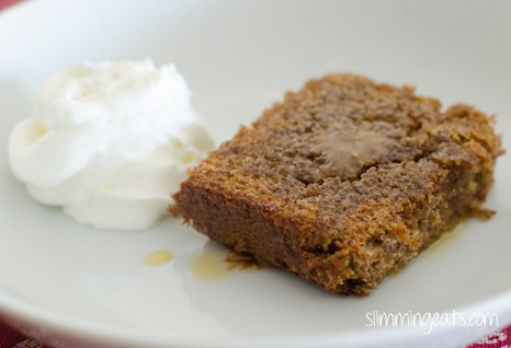 Slimming Eats - Sticky Toffee Scan Bran Cake - vegetarian, slimming world and weight watchers friendly