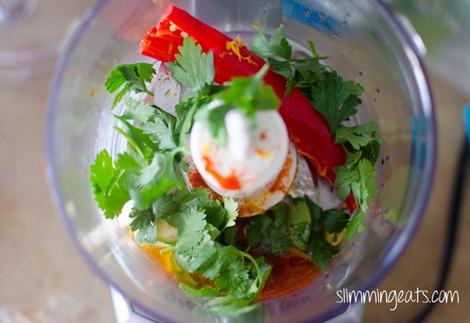 Slimming Eats Piri Piri Prawn Skewers - gluten free, dairy free, paleo, whole30, Slimming World (SP) and Weight Watchers friendly