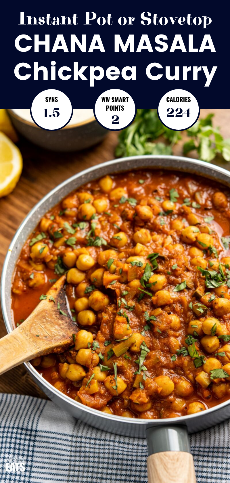Chana Masala feature pin image