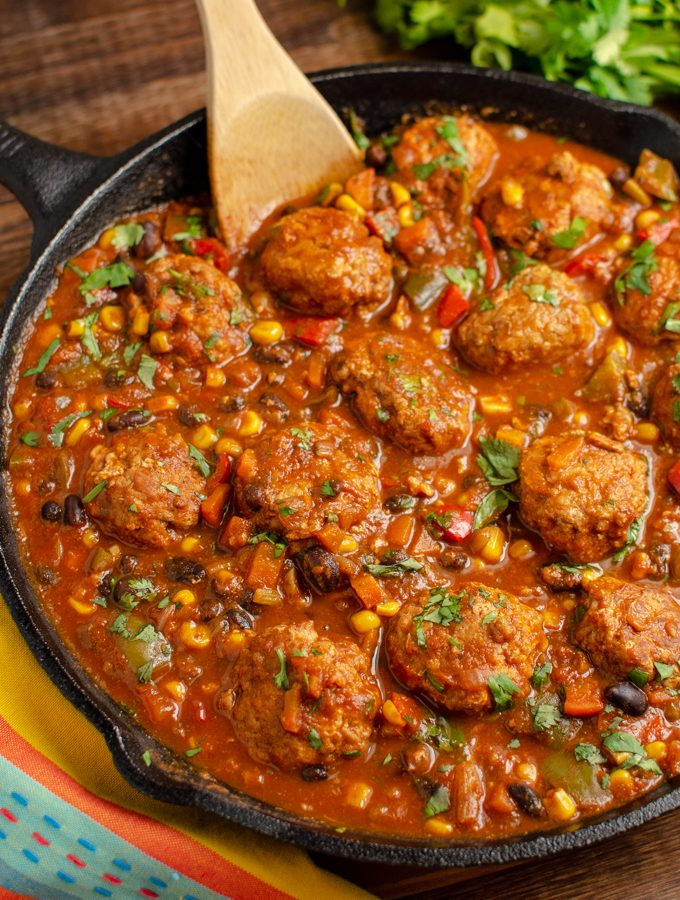 Syn Free Southwestern Turkey Meatballs | Slimming World