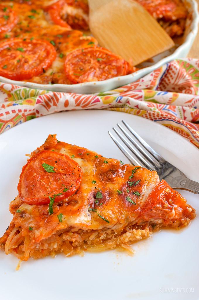 Slimming Eats Syn Free Spaghetti Squash Bake - gluten free, vegetarian, Slimming World and Weight Watchers friendly