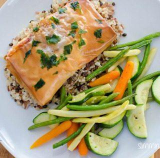 Thai Spiced Salmon Filo Parcel