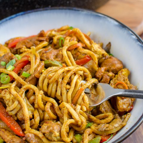 Syn Free Chicken Singapore Noodles