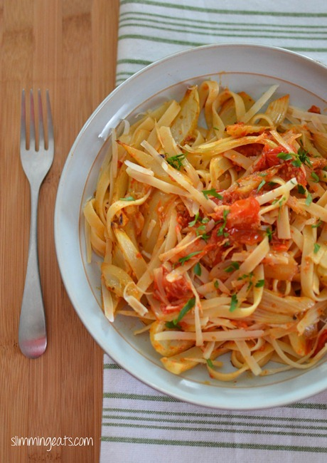 Roasted Tomatoes and Fennel with Fettucine