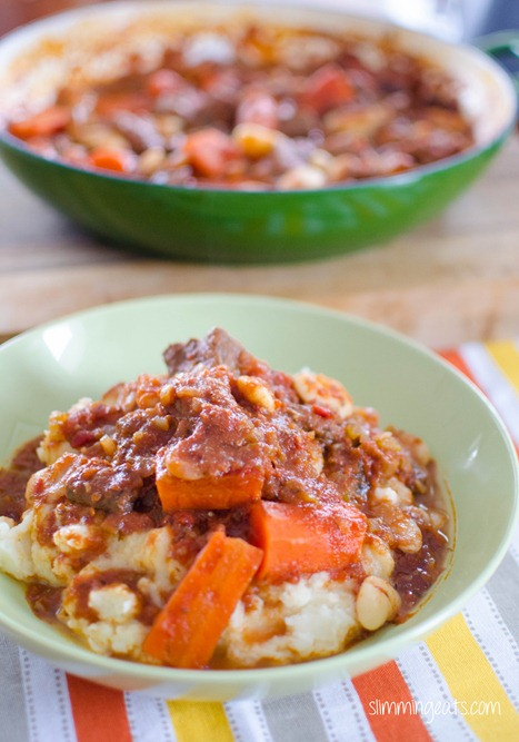 Slimming Eats Tuscan Beef Casserole - gluten free, dairy free, Slimming World (SP) and Weight Watchers friendly