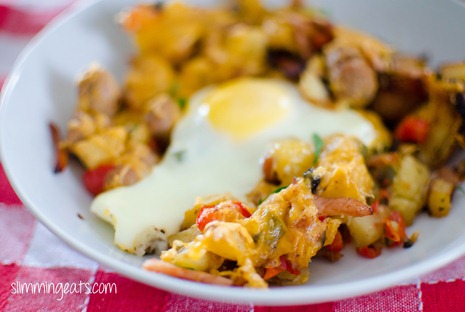 Slimming Eats Breakfast Skillet - Gluten Free, dairy free, paleo, Whole30, Slimming World and Weight Watchers friendly