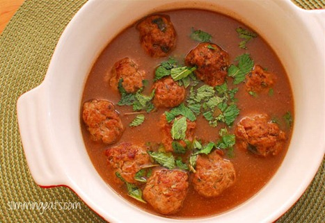 Slimming Eats Lamb Meatballs with mint gravy - gluten free, dairy free, paleo, Slimming World (SP) and weight watchers friendly