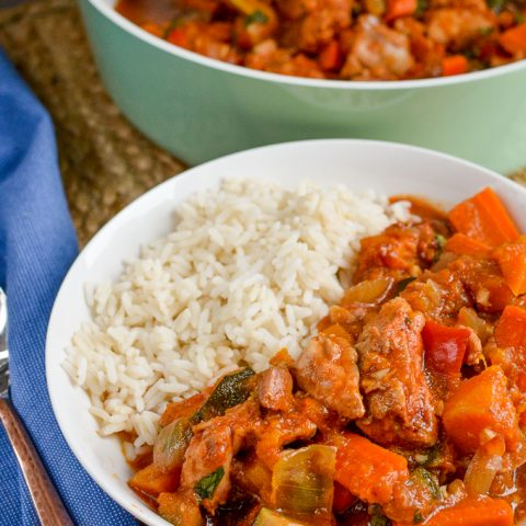 Slow Cooked Chicken Casserole