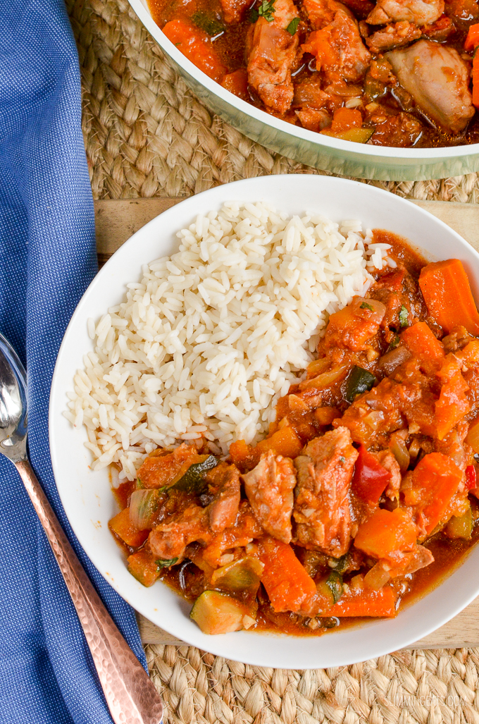 Slimming Eats Slow Cooked Chicken Casserole - gluten free, dairy free, paleo, Instant Pot, Slimming World and Weight Watchers friendly