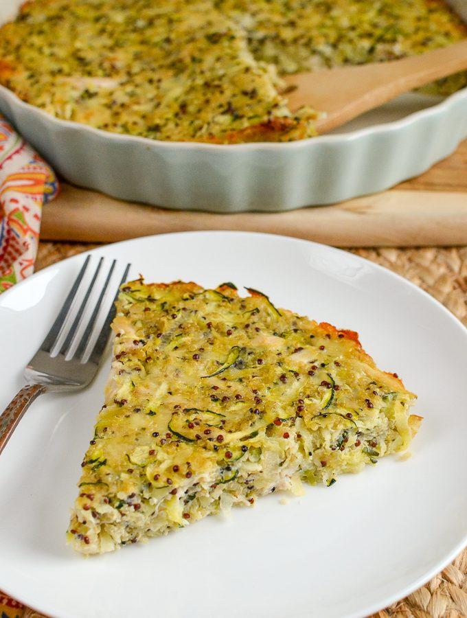 Chicken, Zucchini, Parmesan and Quinoa Bake | Slimming World
