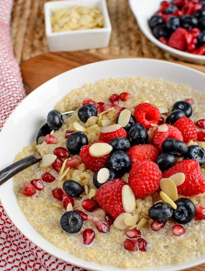 Coconut Quinoa Pudding Breakfast Bowl | Slimming World