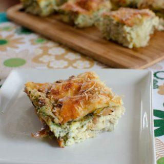Artichoke, Parmesan and Spinach Quiche