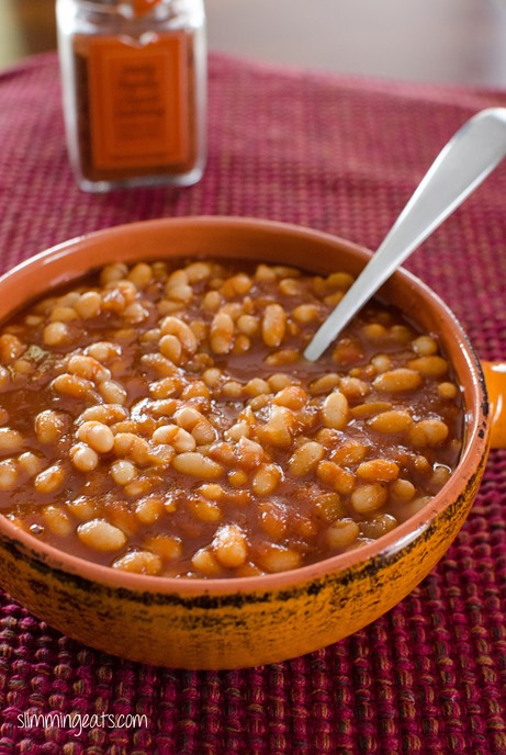 Barbecue Beans - Gluten Free, Dairy Free, Slimming World and Weight Watchers friendly