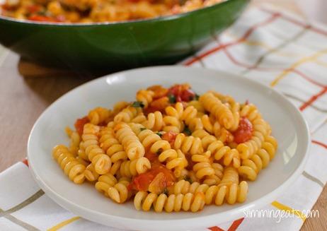 Cherry Tomato and Basil Pasta - Slimming World and Weight Watchers friendly